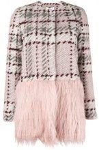 - Blugirl - contrast panel knit coat - women - acrilico/lana/fibra sintetica - 38, 42 - di colore rosa