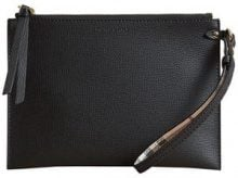 - Burberry - Haymarket Check and Leather Pouch - women - Polyurethane/Calf Leather - Taglia Unica - Nero