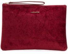 - Lancaster - Clutch quadrata - women - velluto - Taglia Unica - di colore rosso