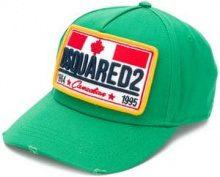 - Dsquared2 - Cappello con applicazione logo - men - Cotone - Taglia Unica - Verde