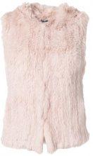 - Yves Salomon - Gilet in pelliccia - women - pelliccia di coniglio - 40 - di colore rosa