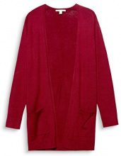 ESPRIT 087ee1i025, Cardigan Donna, Rosso (Cherry Red 615), Medium
