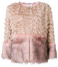 - L'Autre Chose - faux fur panelled jacket - women - fibra sintetica - 38, 40, 42, 44, 46 - color carne