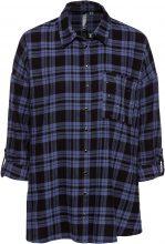 Camicia in flanella con borchiette