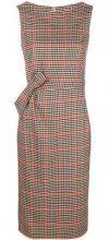 - P.A.R.O.S.H. - checkered print dress - women - lana vergine/fibra sintetica - M, XS - di colore rosso