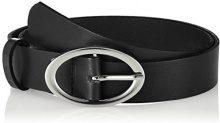 PIECES Pctesia Leather Jeans Belt, Cintura Donna, Nero (Black), 4 (Taglia Produttore: 80)