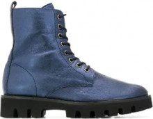 - Hogl - Stivali con lacci - women - gomma/pelle/pelle di vitello - 42, 38.5, 41, 41.5, 38, 37, 36, 37.5, 39, 40 - di colore blu