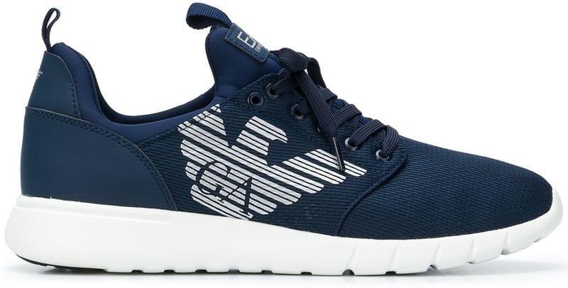 Fibra Armani Sneakers Emporio Men Runner Sinteticaresina Ea7 wXR1q04W