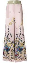 - Erika Cavallini - Pantaloni gamba ampia - women - acetato/seta/fibra sintetica - 40, 42, 44 - multicolore