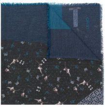 - Liu Jo - frayed hem printed scarf - women - fibra sintetica - Taglia Unica - di colore blu
