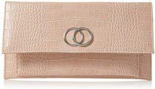 New Look Croc Verity - Pochette da giorno Donna, Rosa (Light Pink), 5x14x20 cm (W x H L)