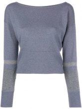 - Fabiana Filippi - round neck jumper - women - seta/lana merino/cashmere - 44 - di colore blu