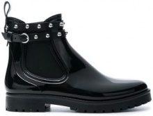- Red Valentino - RED(V) dot ankle Wellington boots - women - fibra sintetica/PVC/gomma - 37, 40, 41 - di colore nero