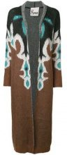 - 8pm - long printed cardigan - women - lana/mohair/cashmere/fibra sinteticafibra sinteticafibra sinteticaalpaca - XS, S - color marrone