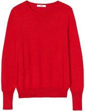 FIND Pullover con Scollo Rotondo Donna , Rosso (Fiery Red), 40 (Taglia Produttore: X-Small)