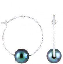 Bella Pearls Donna 925 placcato rodio argento Semisferica perla cinesa da coltivazione