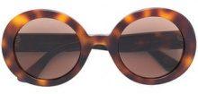 - Gucci Eyewear - Round - frame sunglasses - women - metallo/acetato - 52 - color marrone