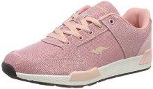 KangaROOS W-700, Sneaker Donna, (Metallic Rose 9008), 39 EU