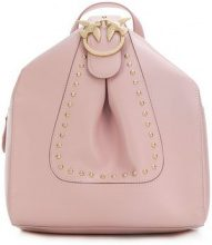 - Pinko - studded small backpack - women - Leather - Taglia Unica - Rosa & viola