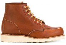 - Red Wing Shoes - Anfibi con cuciture in rilievo - women - gomma/pelle/pelle di vitello - 7.5, 9, 10 - color marrone