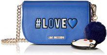 Love Moschino Borsa Pu - Borse a spalla Donna, Blu, 6x13x17 cm (B x H T)