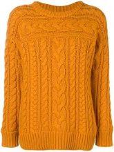 - Michael Michael Kors - Maglione a maglia intrecciata - women - fibra sintetica/yak/lana merino - M, L, XS, S - di colore arancione