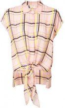 - Nicole Miller - checked printed sleeveless fastened blouse - women - seta - XS, S, M, L - di colore rosa