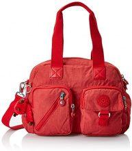 Kipling Defea - Borse a tracolla Donna, Rosso (Spicy Red C), 15x24x45 cm (W x H x L)