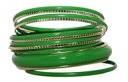 Lux Accessories - Set di bracciali smaltati, colore: verde