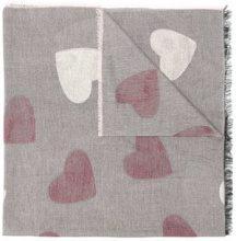 - Twin - Set - heart print scarf - women - viscose/Polyamide/Polyester - Taglia Unica - Grigio