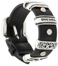 - Diesel - silver - toned hardware bracelet - women - pelle di vitello - Taglia Unica - di colore nero
