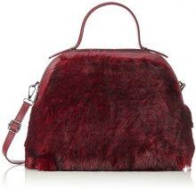 Chicca Borse 8473, Borsa a Mano Donna, Rosso (Bordeaux), 33x28x12 cm (W x H x L)