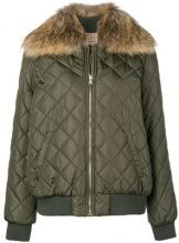 - Twin - Set - padded jacket - women - Madre di Pearl/Racoon Fur/Polyester/PolyesterPolyamideSpandex/Elastane - 42, 44 - Verde