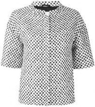 - Herno - spotted zip jacket - women - acetato/fibra sintetica/other fibers - 40 - di colore bianco