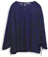 ESPRIT 018ee1f006, Camicia Donna, Multicolore (Dark Blue 405), 34