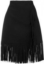 - MSGM - short fringe skirt - women - fibra sintetica - 38, 40, 42, 44 - di colore nero