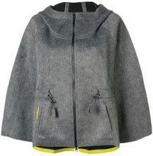 - Sàpopa - Giacca con cappuccio - women - fibra sintetica/acrilico - XS - di colore grigio
