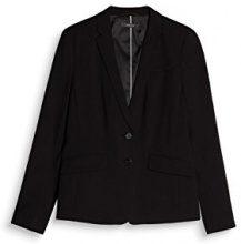 ESPRIT Collection 997eo1g804, Blazer Donna, Nero (Black 001), 42