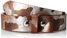 MGM Soffio Druckknopfgürtel, Cintura Donna, Marrone (Braun Kombiniert 01), 100