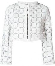 - Caban Romantic - Giacca bolero semi trasparente - women - Polyamide/Leather - 46 - di colore bianco