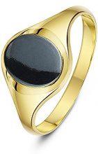 Theia Uomo  9 carati  oro giallo Ovale   grigio Ematite