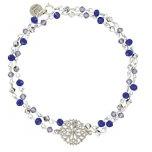 Oscar gioielli blu, braccialetto in argento Sterling–inm09