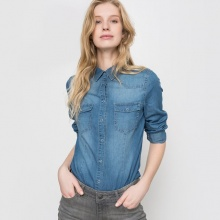 Camicia in denim, maniche lunghe