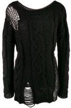 - Almaz - open knit details jumper - women - lana vergine/cotone/lana - XS, M - di colore nero