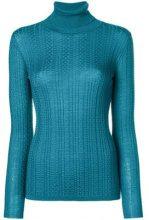 - M Missoni - roll neck sweater - women - fibra sintetica/lana vergine - 40 - di colore blu