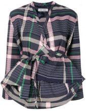 - Henrik Vibskov - Giacca crop a portafoglio - women - cotone - S, L - di colore blu