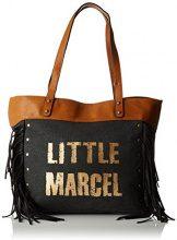 Little Marcel Vi01 - Borse a spalla Donna, Noir (Black), 14x31x42 cm (W x H L)