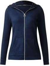 Cecil 252661 Esther, Cardigan Donna, Blu (Deep Blue Melange 10157), X-Small