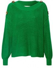 ESPRIT 088ee1i008, Felpa Donna, Verde (Dark Green 300), Medium
