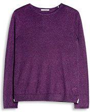 edc by Esprit 077cc1i024, Felpa Donna, Viola (Berry Purple 520), X-Small